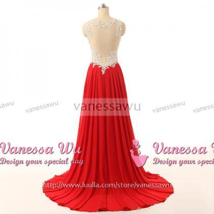 f7bf552c651 Red Floor Length Chiffon Prom Gown Featuring Ruched Sweetheart ...