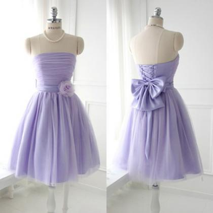 Lavender Bridesmaid Dress with a Bo..