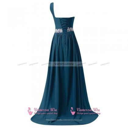 Sequins One Shoulder Steel Blue Pro..