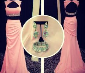 Pink Open Back Prom ..