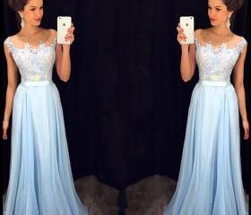 Light Blue Prom Dres..