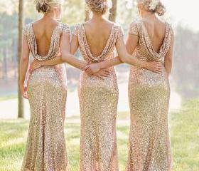 Low Back Sequined Br..
