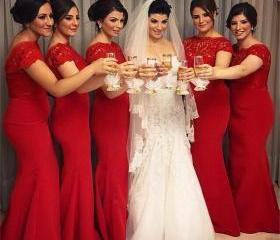 Red Bridesmaid Dress..