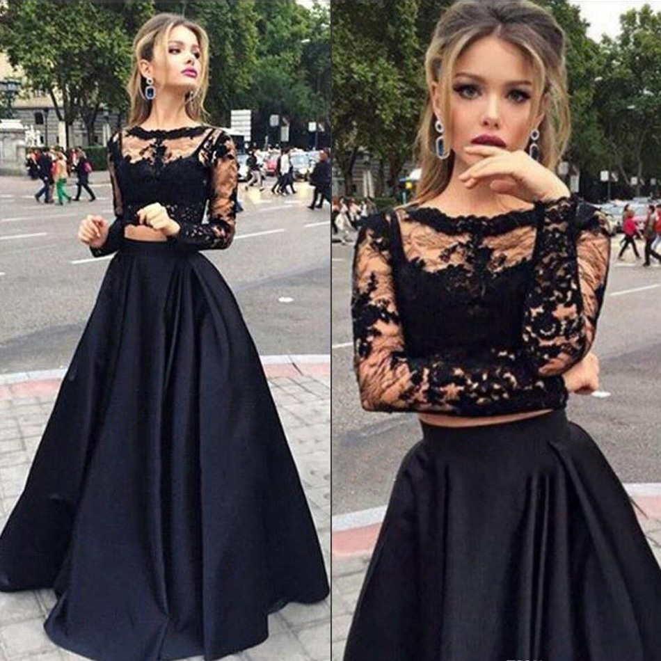 818ccd3130 Long Sleeve Lace Prom Dress