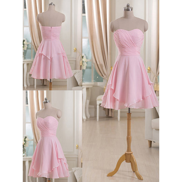 6ff54c2f8b8 Sweetheart Short Bridesmaid Dress With Ruching Detail