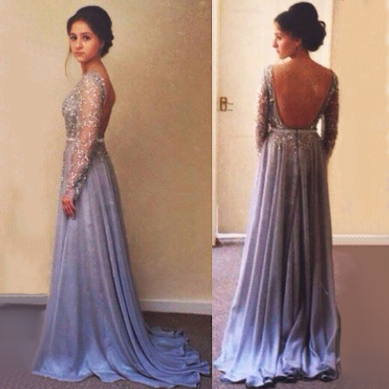 Low-Back Long Dress
