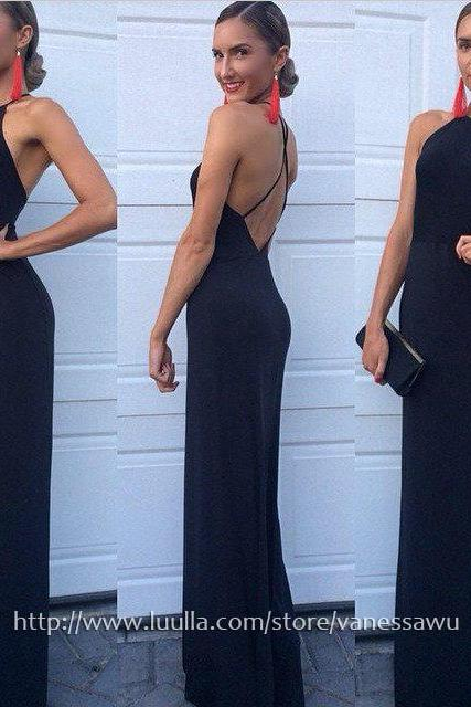 Long Prom Dresses,Sheath/Column Scoop Neck Formal Evening Dresses,Elegant Jersey Pageant Dresses with Ruffle,#020104474