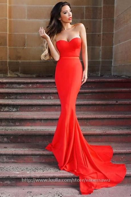 Long Prom Dresses,Trumpet/Mermaid Sweetheart Formal Dresses,Sexy Jersey Prom Dresses with Sashes,#020105479