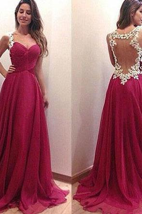Sleeveless Grape Prom Dress with Lace Appliques, Pretty Sweetheart Prom Dress with Ruching Detail, See-through Prom Dresses, #02016831
