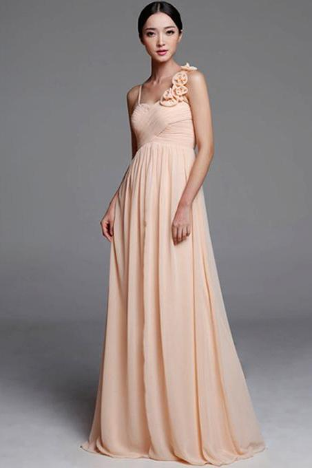 Gorgeous Long Bridesmaid Dresses, Empire Sweetheart Chiffon Bridesmaid Dresses with Ruched Bust, Elegant Bridesmaid Dresses, #01012489